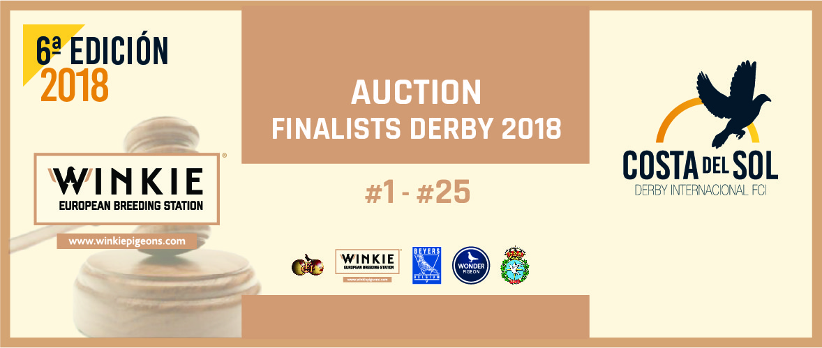 We are ready to auction the top 25 positions of the Costa del Sol Derby 2018!